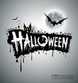 Happy Halloween text design vector image