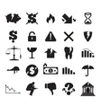 Set of crisis business signs and logos vector image
