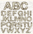 Funky Latin Alphabet vector image
