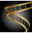gold film strip background vector image vector image