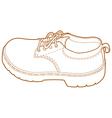 Mans Left Shoe Line Art vector image vector image