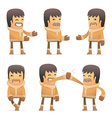 set of eskimo character in different poses vector image vector image