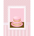 vintage cake vector image vector image