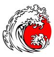 Tsunami wave vector image vector image