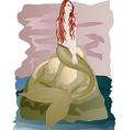 Beautiful redhead mermaid vector image