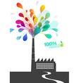 Factory chimney with ecology pollution vector image