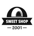 caramel sweet shop logo simple black style vector image