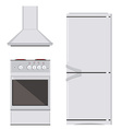 Kitchn appliance icon set vector image
