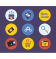 Set of flat design concept icons for technology vector image