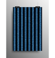 Vertical Poster Parallel Blue Sequins Lines vector image