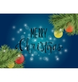 Dark blue christmas poster or card with vector image