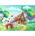 cartoon sweet candy house vector image