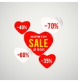 real red paper heart for vector image