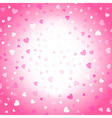 Valentines background pink and white hearts vector image vector image