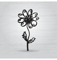 Hand drawn ink rose flower on grunge beige vector image vector image