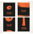 Abstract black and orange brush texture vector image vector image