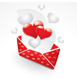 hearts and love letter vector image