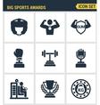 Icons set premium quality of big sports awards vector image
