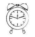 alarm clock blurred silhouette on white background vector image