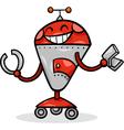 cartoon robot or droid vector image