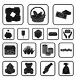 charity and donation black icons in set collection vector image