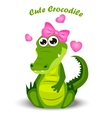 cute crocodile or alligator vector image
