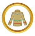 Cute winter sweater icon vector image