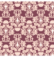 Floral damask pattern background vector image