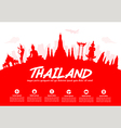 Thailand Travel Landmarks vector image