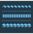 3-D Horizontal Linear Dividers Borders Geometric vector image