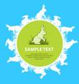 rabbits text vector image vector image