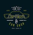 car shop and wash emblem vector image