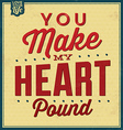 Quote Typographic Valentines Day Background vector image vector image