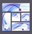 Set of templates for print or web design vector image