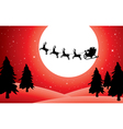 holiday background with santa vector image