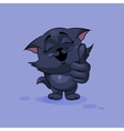 Black cat thumb up vector image