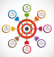 Abstract infographic template target with darts vector image