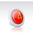 button with the number 4 vector image