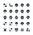 Cloud Computing Cool Icons 1 vector image