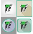 electric repair tools flat icons 10 vector image