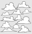 hand drawn clouds set vector image