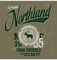 Northland adventures vector image