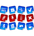 Office stickers vector image