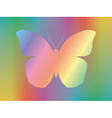spectrum butterfly vector image