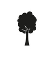 tree black simple icon on white background vector image