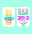 two summer sale templates vector image
