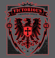 Victorious eagle heraldry t-shirt graphic vector image