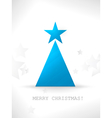 Modern stylized and minimalistic Christmas tree ve vector image