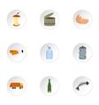 Trash icons set flat style vector image