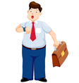 Business man is late watching time vector image vector image